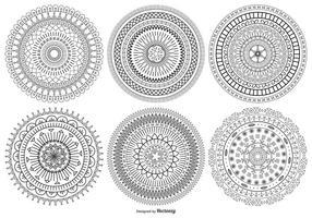 Mandala stil vektor former samling