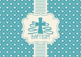 Blå Baptisim-kortmall vektor