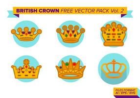 Britische Krone Free Vector Vol. 2