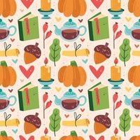 nahtloses Muster der Herbstelemente vektor