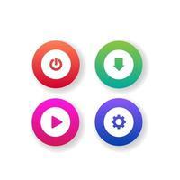 olika färgglada webbknappssamling