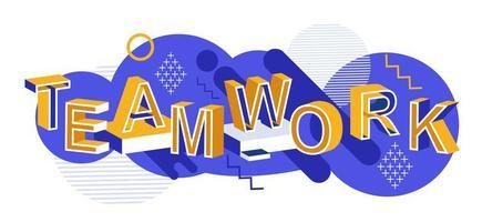 Teamwork Typografie-Konzept für Banner oder Web vektor
