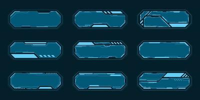 blauer abstrakter Technologie-Rahmensatz vektor