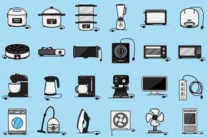 Gruppe Elektrogeräte für den Haushalt vektor