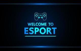 Välkommen till speldesign för e-sportteknik vektor