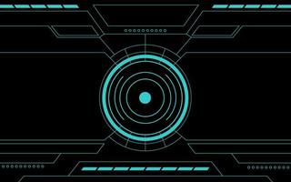 blaue Bedienfeld abstrakte Technologie Schnittstelle Hud vektor