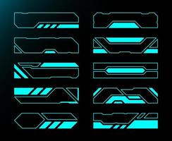 Frame-Set-Technologie zukünftige Schnittstelle Hud-Sammlung vektor