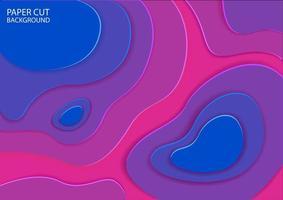 blå och rosa abstrakt pappersskuren design