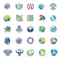 färgglada olika logotyp samling modern design vektor