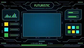 futuristisk gränssnittsdesign vektor