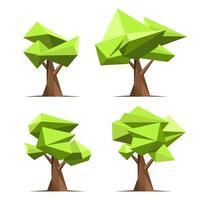 abstrakt stil träduppsättning vektor
