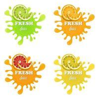 Fruchtsaftspritzer gesetzt