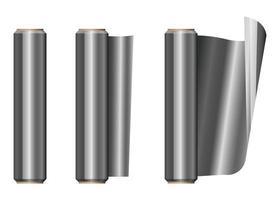 Rolle Aluminiumfolie eingestellt vektor