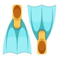 Schwimmflossen im Cartoon-Stil