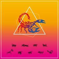 Insekten-Silhouette eingestellt
