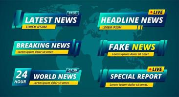 TV-Nachrichten Schlagzeile unteres Drittel gesetzt vektor