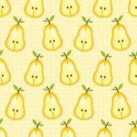 geschnittenes Birnenfrucht nahtloses Muster