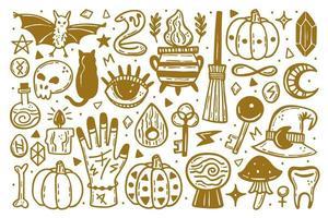 goldene Halloween-Reihe von Elementen
