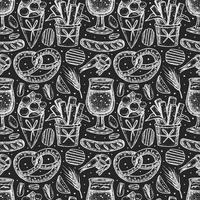 nahtloses Muster im Oktoberfest-Kreidestil vektor