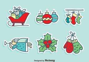 Handdragen jul dekoration vektor