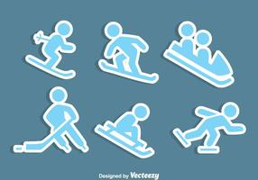 Wintersport Icons Vektor
