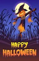 Vogelscheuche in der Halloween-Nacht