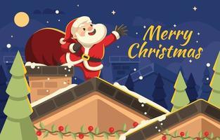 Weihnachtsgeschenk von Santa vektor