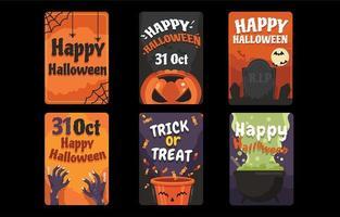 festliga lyckliga halloween gratulationskort vektor