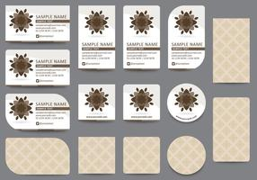 Brown-Namenskarten-Schablonen