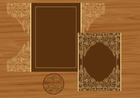Hochzeits-Einladung oder Gruß-Karte mit Blumen-Laser-Schnitt vektor