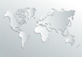 Vit världskarta vektor