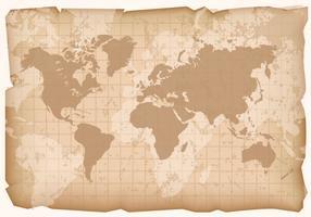 Vintage världskarta vektor