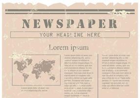 Vintage Old Newspaper Hintergrund vektor