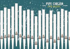 Pipe Orgel Kirche musikalischen Hintergrund vektor