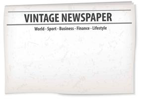 Vintage Old Newspaper Hintergrund