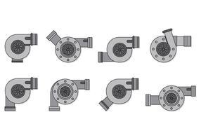 Set von Turbolader-Vektoren vektor