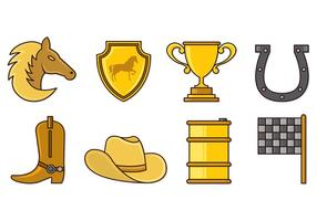Set von Barrel Racing Icons