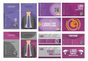 Lila Namenskarten-Vektor-Design