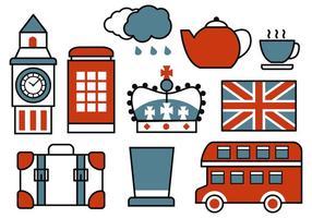 Free Retro britischen Icons Vektor