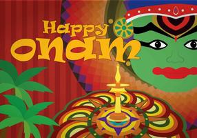 Gratis Onam Illustration
