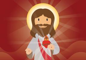 Freie Heilige Herz Illustration vektor