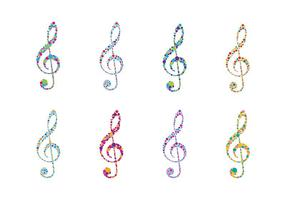 Violine Schlüssel Logo Vektor