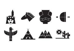 Gratis indiska amerikanska ikoner vektor