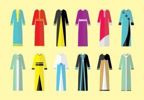 Abaya Sammlung Vektoren