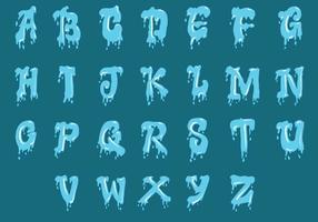 Set Wasser Alphabet Großbuchstaben vektor