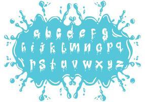 Set von Wasser Alphabet Kleinbuchstaben vektor