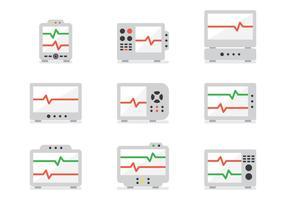 EKG-Maschine vektor