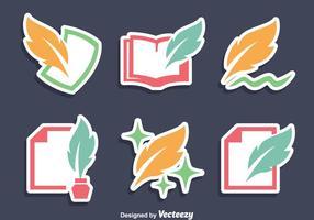 Skrivande ikoner vektor