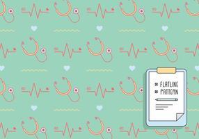 Flatline och stetoskopmönster vektor