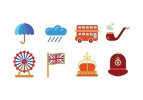 Brittiska / brittiska ikoner vektor